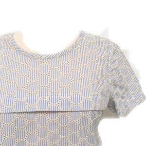 J crew eyelet blouse size 6